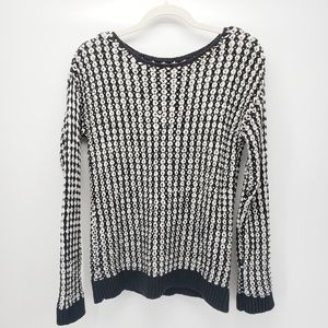 Kenneth Cole | Long Sleeve Sweater | Black/White